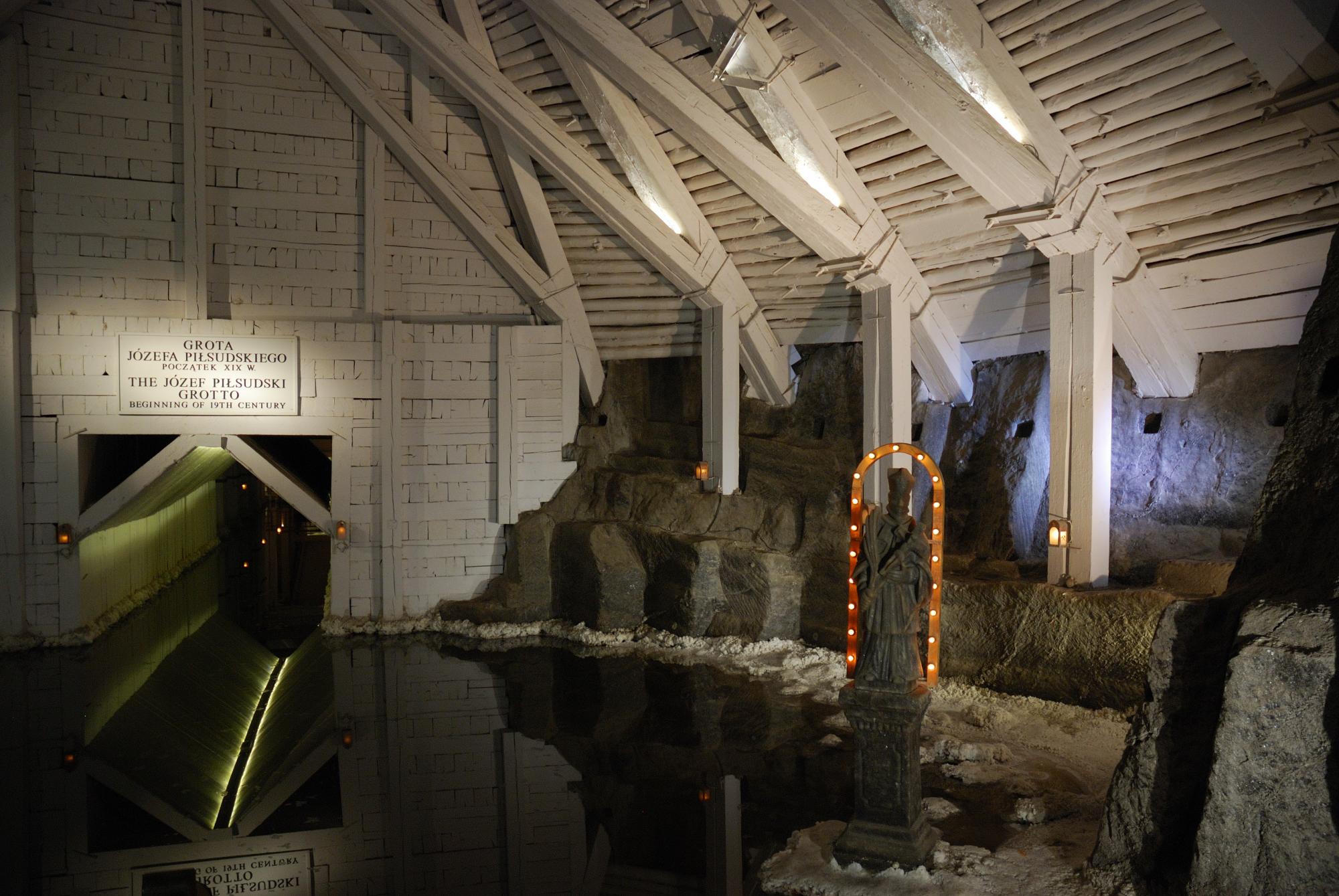 Minas de sal de Wieliczka. Lago interior
