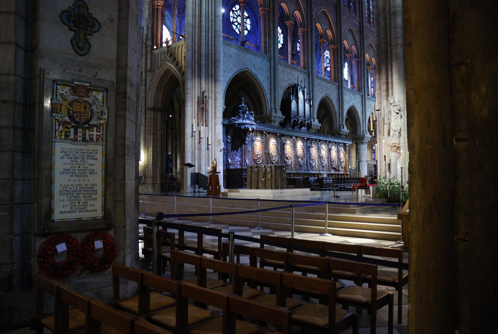 Notre Dame. Coro y altar