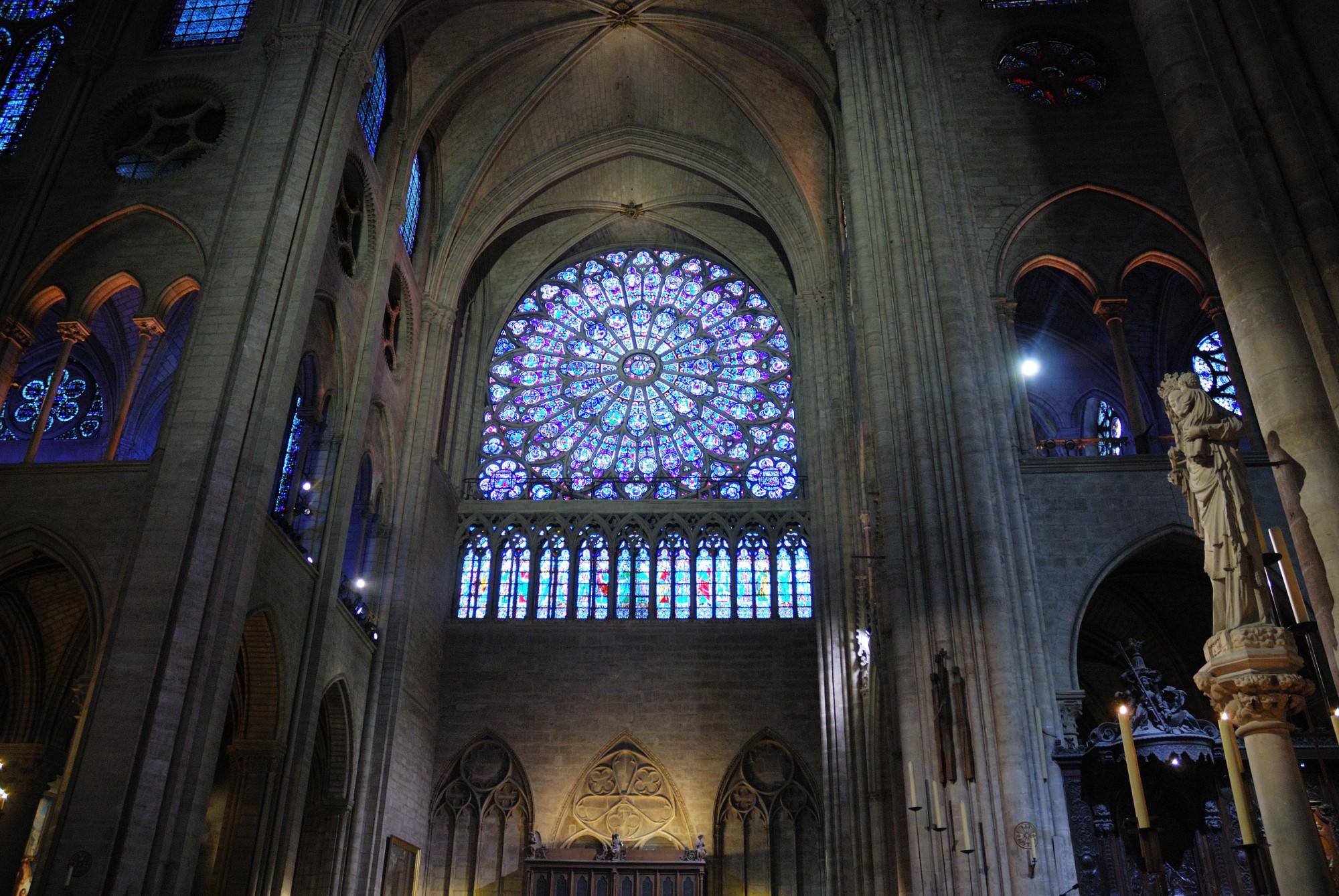 Notre Dame. Rosetón.