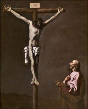 Francisco de Zurbarán [1598-1664]: Cristo crucificado contemplado por un pintor, 1630-1639.