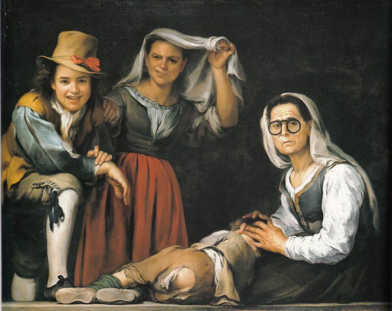 Bartolomé Esteban Murillo (1617-1682): Cuatro figuras en un escalón, ca. 1655-1660