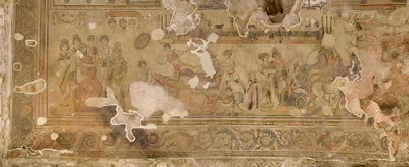 Escena C que muestra el mito de Pélope e Hipodamia.