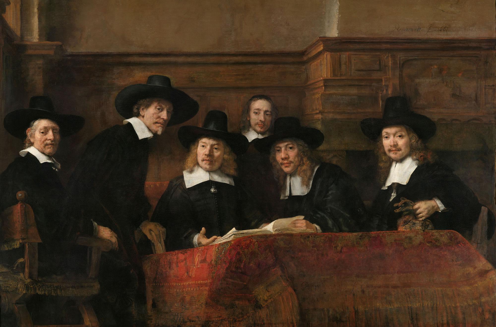 Los funcionarios del Gremio de Draper de Amsterdam,
