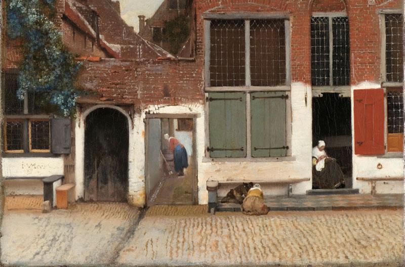 Johannes Vermeer: Vista de casas en Delft, conocida como The Little Street