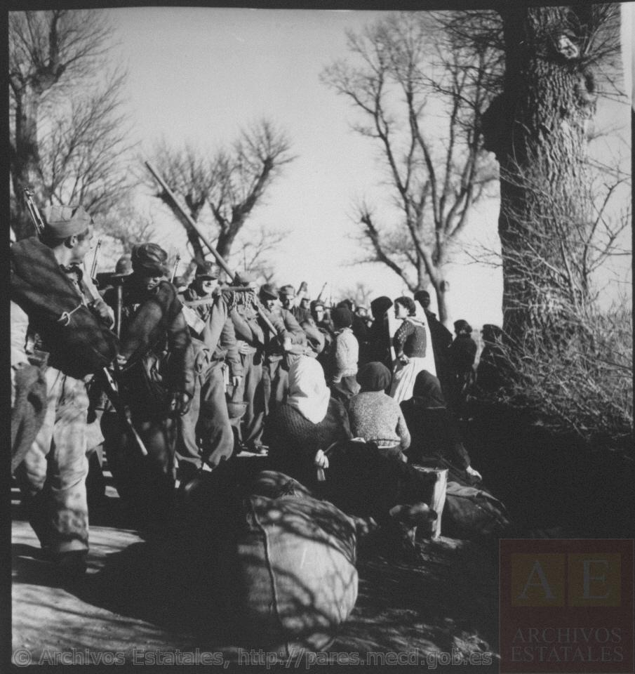 Evacuación de civiles de Teruel y entrada de milicianos