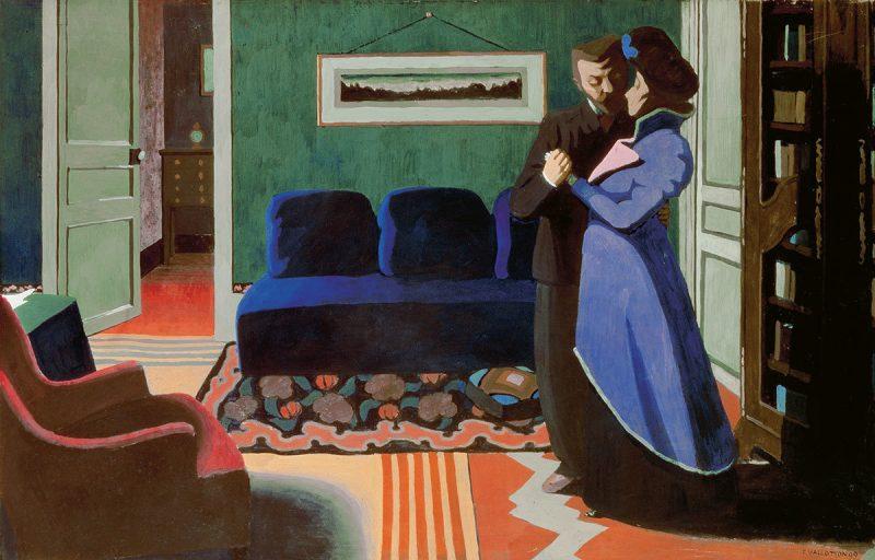 Félix Vallotton. The Visit (La visite) 1899