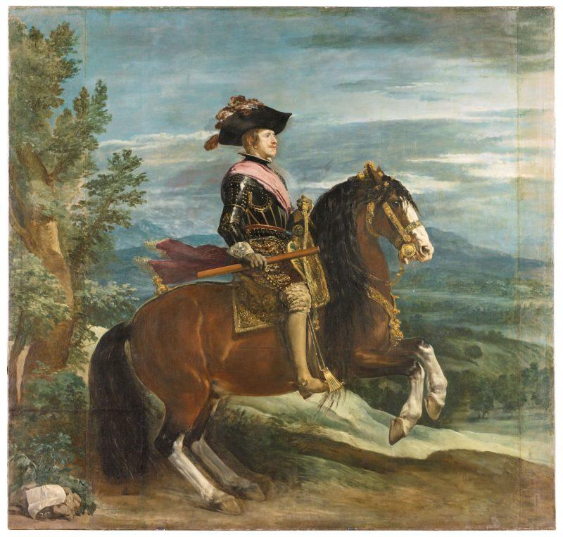 Diego Velázquez (1599-1660): Felipe IV, a caballo, ca. 1635-1636.