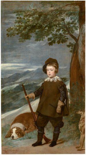 Diego Velázquez (1599-1660): El príncipe don Baltasar Carlos, cazador, 1635-1636.