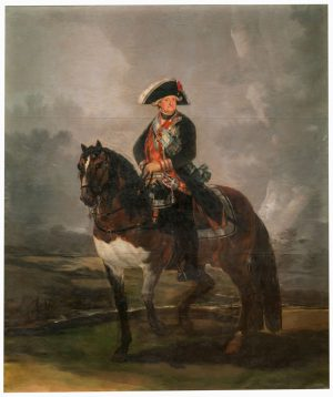 Francisco de Goya (1747-1828): Carlos IV, a caballo, 1800.