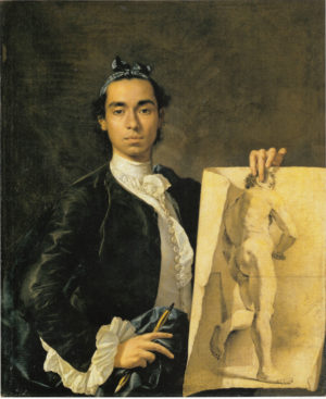 Luis Meléndez (1716-1780): Autorretrato, 1746.