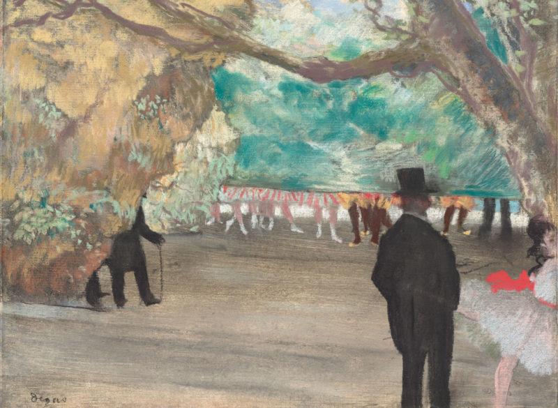Edgar Degas (1834 - 1917): The Curtain, c. 1880.