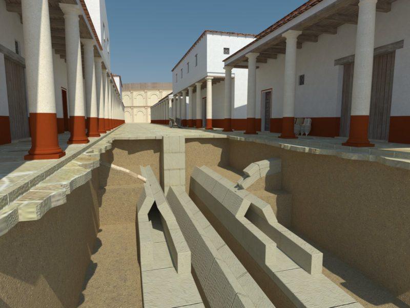 Recreación tridimensional de las cloacas de la actual calle Antonio Maura (Córdoba)