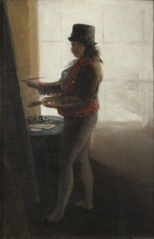 Francisco de Goya (1747-1828): Autorretrato pintando, ca. 1799