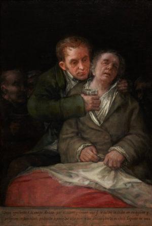 Francisco de Goya (1747-1828): Autorretrato con el doctor Arrieta, 1820.