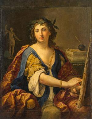 Elisabetta Sirani: Alegoría de la pintura (¿autorretrato?), 1658