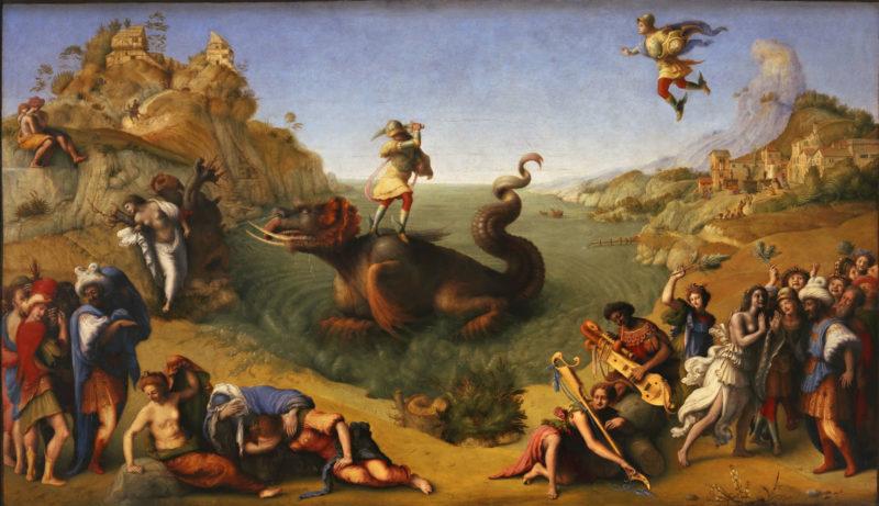Perseo libera a Andrómeda de Piero di Cosimo