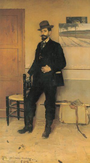 Ramón Casas (1866-1932): Santiago Rusiñol, 1889.
