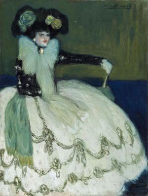 Pablo Picasso (1881-1973): Mujer en azul, 1901