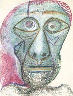 Pablo Picasso (1881-1973): Autorretrato, 1972.