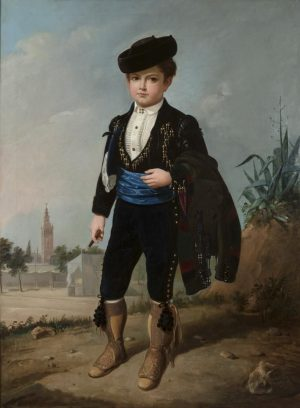 Manuel Cabral y Aguado Bejarano (1827-1891): Alfonsito Cabral con puro, 1865.