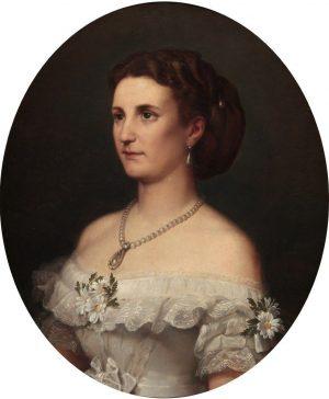 Carlos Luis de Ribera y Fieve: Mª Leonor Salm-Salm, Duquesa de Osuna, 1866.