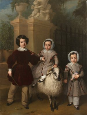 Antonio María Esquivel y Suárez de Urbina (1806-1857): Niños jugando con un carnero (1843).