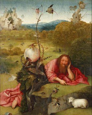 Hieronymus van Aeken (El Bosco), (1450(ca) - 1516): Meditaciones de San Juan Bautista, 1495 (ca).