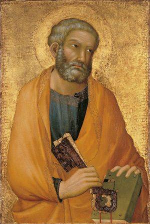 Simone Martini (Siena, Italia h. 1284 - Aviñón, Francia h. 1344): San Pedro, s.f.