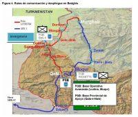 Figura 4. Rutas de comunicación y despliegue en Badghis