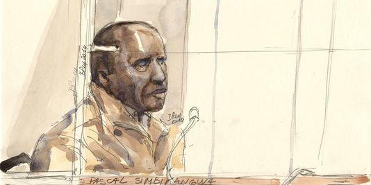 Pascal Simbikangwa est le premier Rwandais jugé en France en lien avec le génocide. | AFP/BENOIT PEYRUCQ