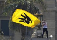 A Muslim Brotherhood supporter at a protest outside Cairo University last month against the government crackdown on dissent. Credit Mohamed Abd El Ghany/Reuters