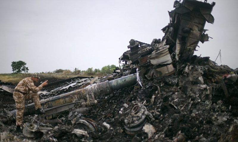 The burnt-out wreckage of Malaysia Airlines flight MH17. Photograph: Dzhavakhadze Zurab/ITAR-TASS Photo/Corbis