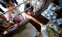 A malaria clinic near the Thai-Burma border. Artemisinin has been Thailand's most potent weapon in the long-running battle against malaria, contributing to a sharp drop in deaths. Photograph: Pornchai Kittiwongsakul/AFP/Getty Images