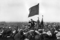 Jean Jaurès, the founder of France's Socialist Party, giving a speech on the outskirts of Paris in 1913. Credit Maurice-Louis Branger/Roger-Viollet