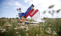 A part of the wreckage of flight MH17. 'New sanctions against Russia are just a matter of time.' Photograph: Maxim Zmeyev/Reuters
