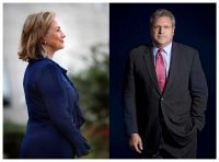 Neocons like the historian Robert Kagan may be connecting with Hillary Clinton to try to regain influence in foreign policy. Credit Left, Stephanie Sinclair/VII via Corbis; right, Colin McPherson/Corbis.