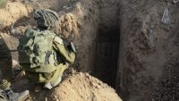 A Hamas tunnel discovered by soldiers from the Paratroopers Brigade in the northern Gaza Strip on July 18, 2014. (IDF Spokesperson/Flash90)