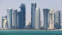 The Qatar skyline on February 20, 2014 in Doha. Qatar's strategy with the Muslim Brotherhood has failed, writes Al Qassemi.