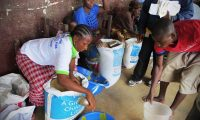 An aid delivery to Ebola-stricken Liberia. 'Contrast this hesitant humanitarian intervention with the hysteria driving the next military intervention in Iraq.' Photograph: Mary's Meals/PA
