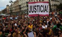 Indignados protesting against grim economic prospects and unemployment in Madrid in 2012. Photograph: Emilio Morenatti/AP