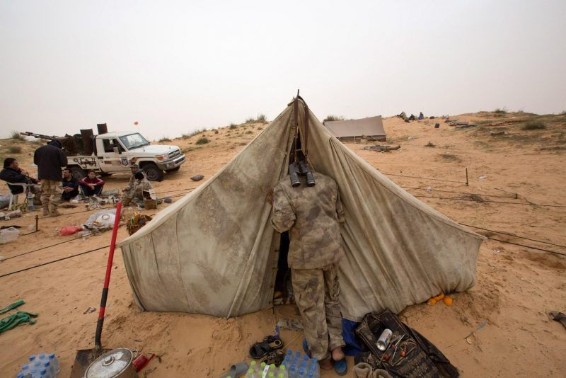 Army forces in Libya have been fighting Islamic and tribal militias since last September. (Mohamed Ben Khalifa / Associated Press)