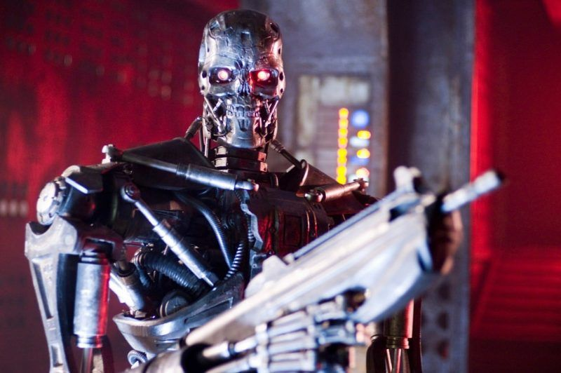 A T-600 Terminator in a scene from Warner Bros. Pictures action/sci-fi feature Terminator Salvation (Richard Foreman/Richard Foreman)