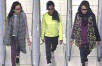 Left to right: Kadiza Sultana, Amira Abase, Shamima Begun. The British teenagers walk through security at Gatwick airport before boarding a flight to Turkey, Feb. 17, 2015. REUTERS/Metropolitan Police/Handout via Reuters