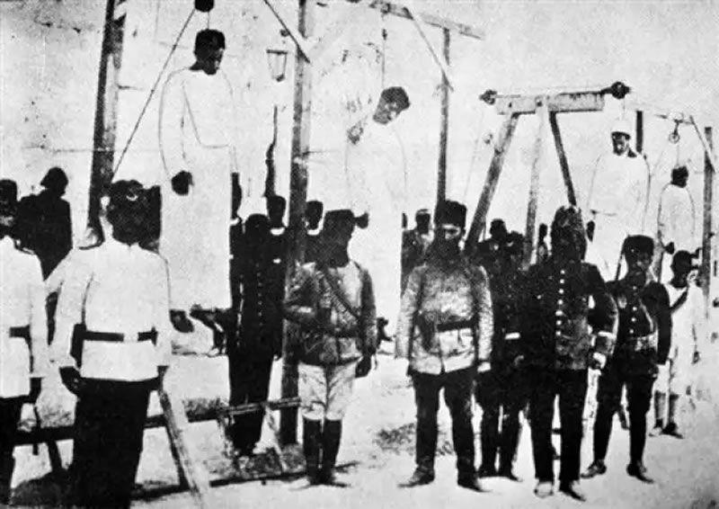 Photo du génocide arménien, prise à Alep en 1915. AFP