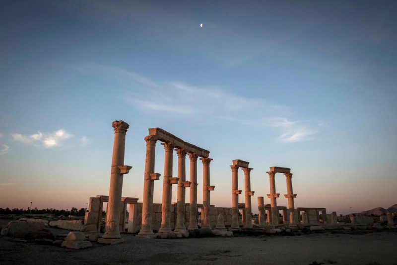 The site of Palmyra, in Syria, connects modern visitors to the Roman Empire. Credit Sergey Ponomarev for The New York Times