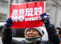 Public opinion is still firmly anti-nuclear. Christopher Jue / EPA