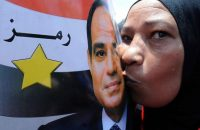 Not everyone feels the same way about Egypt's president, Abdel Fattah al-Sisi. EPA/Mahmoud Taha
