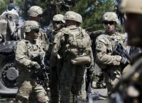 U.S. troops arrive at the site of a suicide bomb attack in Kabul on Tuesday. (Omar Sobhani/Reuters)