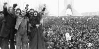 Mass demonstration in Tehran during the Iranian Revolution of 1979