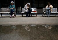 Support for Prime Minister Shinzo Abe's security bills is lowest among Japan's pensioners. Credit Issei Kato/Reuters